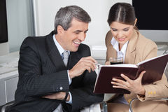 Business people with full order Stock Photos