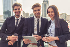 Business people with gadget Stock Photo
