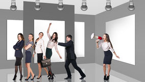 Business people in gallery Stock Photos