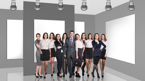 Business people in gallery Royalty Free Stock Images