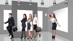 Business people in gallery Royalty Free Stock Image