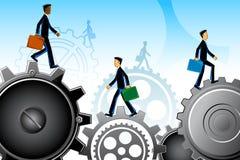 Business People on Gear stock illustration