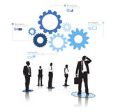 Business People Gears Biz Infographic Concept Royalty Free Stock Photography