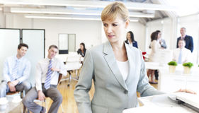 Business people getting bad mood Stock Photo