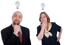 Business people getting ideas Stock Photos