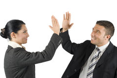 Business People Give High Five Royalty Free Stock Image