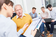 Business people giving advice Royalty Free Stock Image
