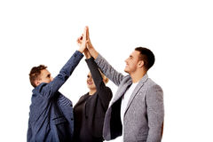 Business people giving high five Royalty Free Stock Photos