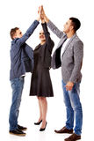 Business people giving high five Royalty Free Stock Image