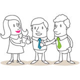 Business people giving the thumbs up Royalty Free Stock Photos