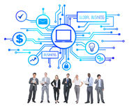Business People and Global Business Concepts Royalty Free Stock Photos