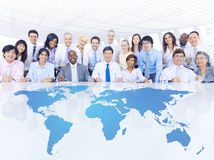 Business People in Global Business Meeting Royalty Free Stock Photography