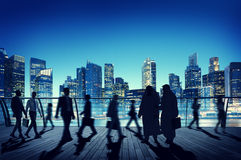 Business People Global Commuter Walking City Concept Stock Images