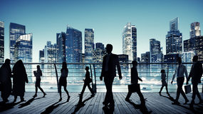 Business People Global Commuter Walking City Concept Stock Photo