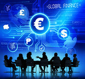 Business People and Global Finance Concepts Royalty Free Stock Image