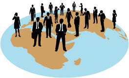 Business people global work force resources. Business people are corporate global human resources work force Stock Photos