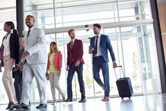 Business people go to work Royalty Free Stock Photography