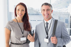 Business people going to convention Royalty Free Stock Photos