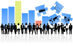 Business people and graph Stock Photography