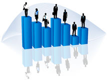Business people and graph Royalty Free Stock Image