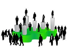 Business people and graph Royalty Free Stock Photo