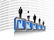Business people and graph Stock Images