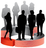 Business people and graph Stock Photo