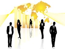Business people and graph Stock Image