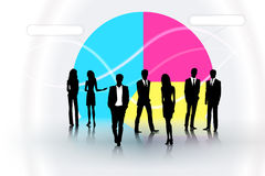 Business people. People on the graph background Royalty Free Stock Photography