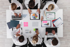 Business people and graphs Royalty Free Stock Images