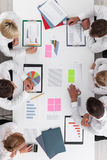 Business people and graphs Royalty Free Stock Photo