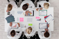 Business people and graphs Royalty Free Stock Image