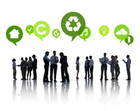 Business People with Green Concepts Royalty Free Stock Image