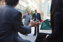 Business People Greeting Each other Royalty Free Stock Images