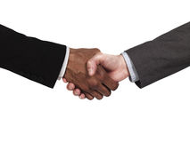 Business people greeting eachother Royalty Free Stock Image