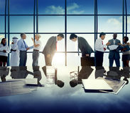 Business People Greeting Global Business Discussion Concept Stock Images