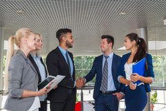 Business People Group Boss Hand Shake Welcome Gesture, Businesspeople Team Handshake Royalty Free Stock Images