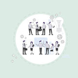 Business People Group Brainstorming Process Flip Chart Finance, Businesspeople Team Training Meeting. Vector Illustration Royalty Free Stock Images