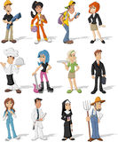 Business people. Group of cartoon business people. Professionals Royalty Free Stock Photo