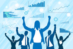 Business People Group Celebration Silhouette Stock Photo