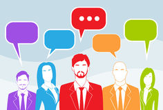 Business People Group Chat Colorful Communication Royalty Free Stock Photography