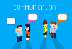 Business People Group Chat Communication Bubble Concept, Business People Talking Discussing 3d Isometric Stock Photos
