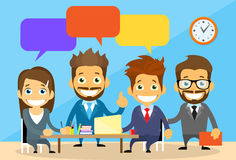 Business People Group Chat Communication Office Stock Photo