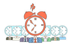 Business People Group Clock Alarm Head Deadline Concept Royalty Free Stock Images