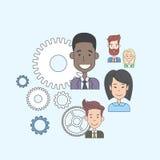 Business People Group Cog Wheel Concept Teamwork Stock Photos
