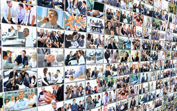 Business people group collage Royalty Free Stock Photo