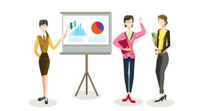 Business People Group Conference Meeting Finance Presentation Chart Graph Royalty Free Stock Images
