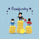 Business People Group Crowd Funding Investment Concept Royalty Free Stock Images