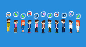 Business People Group Crowd Icon Set Collection 3d Isometric Royalty Free Stock Photography