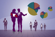 Business People Group Finance Graph Financial Success Concept. Flat Vector Illustration Stock Photo